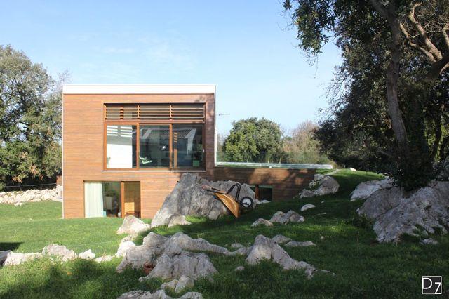 Vista de la casa Passivehaus EntreEncinas