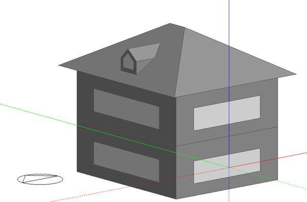 Ejemplos de geometrías complejas introducidas en Design Builder