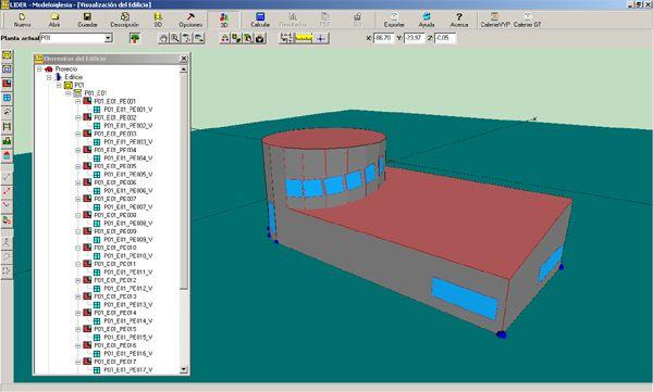 Modelo exportado a Lider desde Design Builder