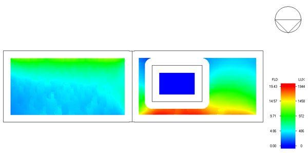 Simulación de luz natural de vivienda