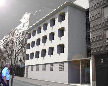 Fachada concurso rehabilitación Logroño