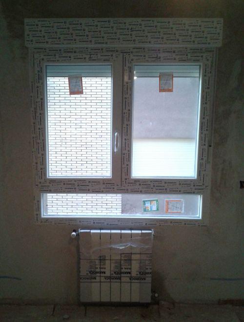 Nueva ventana de PVC con cajonera aislada
