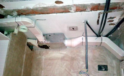 Ventilador y conductos del sistema de extracción