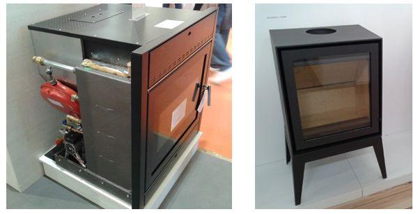 Chimenea insertable con kit hidráulico de Klover y estufa de diseño de Fogo Montana