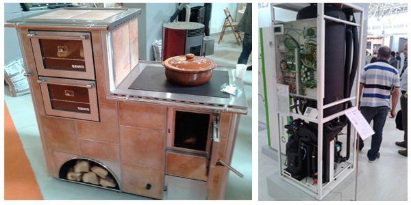 Cocina de leña de Senko y bomba de calor ecoGEO de Ecoforest