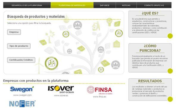 Plataforma de materiales sostenibles del GBCe