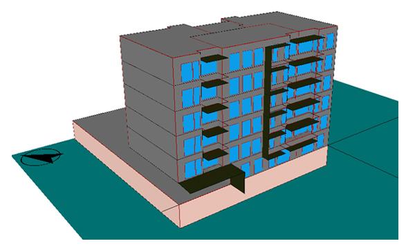 Edificio plurifamiliar en zona D3 con buena orientación y bajo factor de forma que implica menores necesidades de aislamiento: Cumple con 6 cm en fachadas y 8 en cubiertas